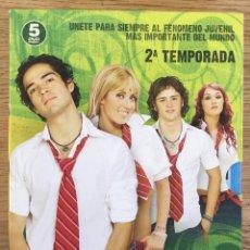 Series de TV: REBELDE 2ª TEMPORADA COMPLETA 5 DVD - SERIE TV. Lote 143188990