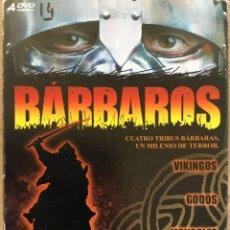 Series de TV: BÁRBAROS CUATRO TRIBUS BÁRBARAS, UN MILENIO DE TERROR PACK 4 DVD CANAL HISTORIA. Lote 143204710
