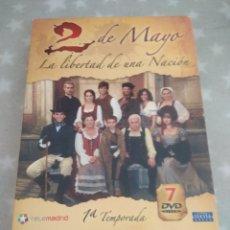 Series de TV: DVD. 2 DE MAYO. LA LIBERTAD DE UNA NACIÓN. PRIMERA TEMPORADA. 7 DVDS.. Lote 148059485