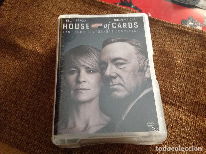 HOUSE OF CARDS DVD CINCO TEMPORADAS PRECINTADA. (Series TV en DVD)
