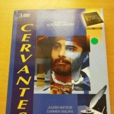 Séries TV: CERVANTES (DIRIGIDO POR ALFONSO UNGRÍA) RTVE (3 DVD). Lote 154041594