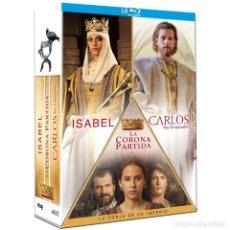 Series de TV: PACK 3 SERIES COMPLETAS :ISABEL+LA CORONA PARTIDA+CARLOS A ESTRENAR EN BLU-RAY. Lote 156369374