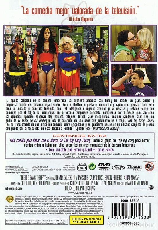 Series de TV: THE BIG BANG THEORY TERCERA TEMPORADA COMPLETA 3 DVD - Foto 2 - 156717334