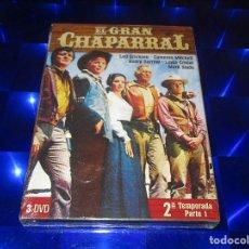 Series de TV: EL GRAN CHAPARRAL - 3 DVD - PRECINTADA - 2ª TEMPORADA PARTE 1. Lote 157956066