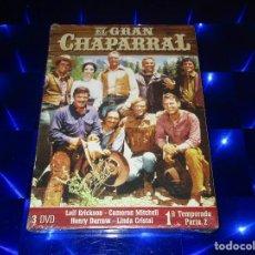 Series de TV: EL GRAN CHAPARRAL - 3 DVD - PRECINTADA - 1ª TEMPORADA PARTE 2. Lote 157956566