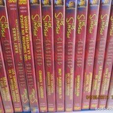 Series de TV: LOS SIMPSON 14 DVD LOS SIMPSONS CLASICOS COLECCION COMPLETA - ESPAÑOL,INGLES,FRANCES ,ALEMAN ITAL. Lote 194554005