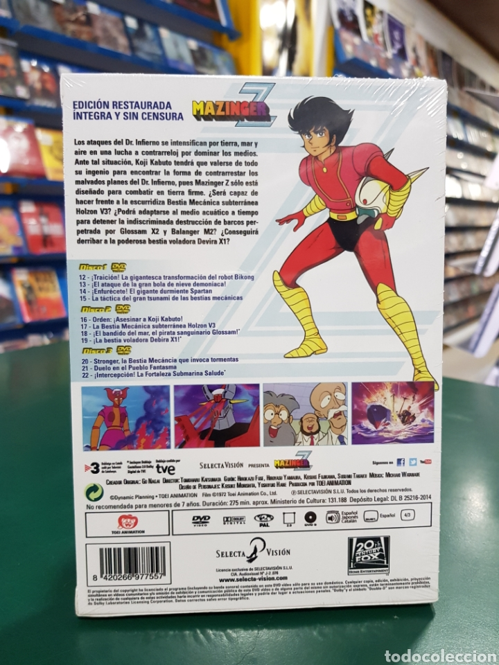 Series de TV: ( Selecta ) MAZINGER Z BOX 2 - DVD NUEVO PRECINTADO - Foto 2 - 159116830