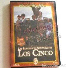Series de TV: DVD LAS FANTÁSTICAS AVENTURAS DE LOS CINCO BAS EN OBRA ENID BLYTON 5 JUNTO AL MAR RESOLVER UN ENIGMA. Lote 166796170