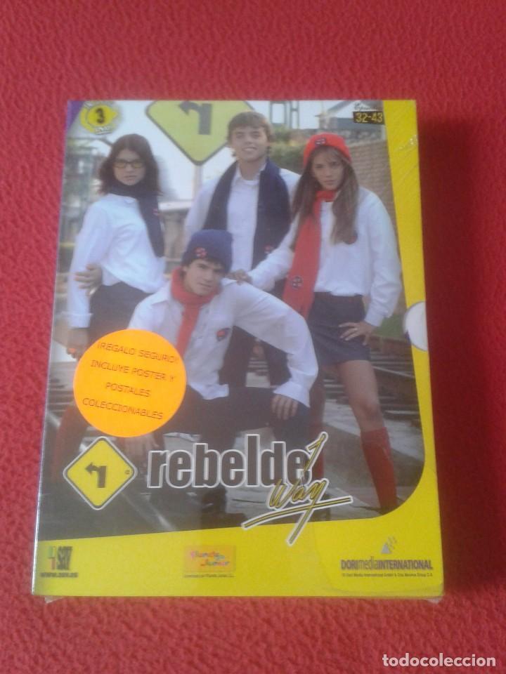 PACK DE 3 DVD DVDS SERIE TV JUVENIL ADOLESCENTE REBELDE WAY EPISODIOS 32 A 43 NUEVO PRECINTADO VER (Series TV en DVD)