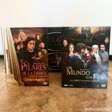 Series de TV: LOS PILARES DE LA TIERRA Y UN MUNDO SIN FIN - KEN FOLLET - DVD. Lote 171141827