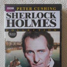 Series de TV: SHERLOCK HOLMES. PETER CUSHING COLLECTION. BBC. ESTUCHE CON 5 DVD'S. EL MISTERIO DEL VALLE BOSCOMBE.. Lote 171221670