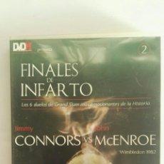Series de TV: FINALES DE INFARTO WIMBLEDON 1982 CONNORS MCENROE TENIS DVD. Lote 174513687