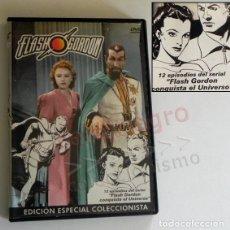 Series de TV: DVD FLASH GORDON EDICIÓN ESPECIAL COLECCIONISTA 12 EPISODIOS DE SERIE SUPERHÉROE PERSONAJE DE CÓMIC. Lote 176518928