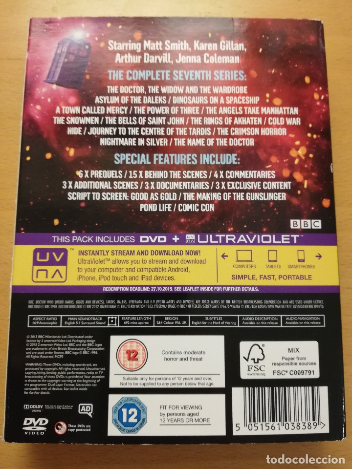 Series de TV: DOCTOR WHO. THE COMPLETE SEVENTH SERIES (DVD) BBC - Foto 9 - 177665299