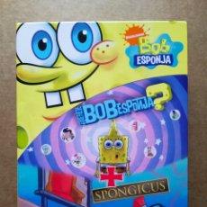 Series de TV: DVD PACK BOB ESPONJA: ¿QUÉ FUE DE BOB ESPONJA? / SPONGICUS (NICKELODEON, 2009). 177 MINUTOS. EXTRAS. Lote 178103053