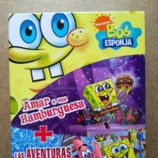 Series de TV: DVD PACK BOB ESPONJA: AMAR A UNA HAMBURGUESA / LAS AVENTURAS DEL FONDO DE BIKINI. NICKELODEON, 2010. Lote 178103142