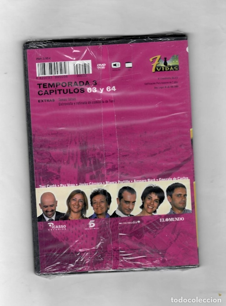 Series de TV: 7 vidas - temporada 3- capitulo 63 y 64 - Nuevo Estuche caja SLIM - Foto 2 - 49862203