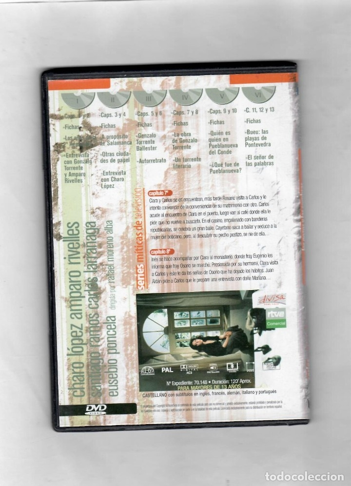 Series de TV: Los Gozos y las sombras. Disco nº4 de 6. Estuche caja SLIM - NUEVO - Foto 2 - 50230263