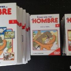 Series de TV: ERASE UNA VEZ EL HOMBRE: SERIE COMPLETA; 26 DVDS + 26 LIBROS. Lote 182331677