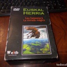 Series de TV: EUSKAL HERRIA LA MIRADA MÁGICA, 5 DVD, TRES PRECINTADOS EN TOTAL 9 DVD. EITB 2.003. Lote 182824471