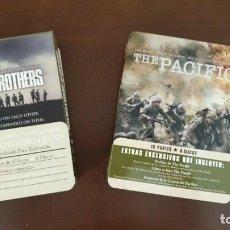 Series de TV: BAND OF BROTHERS + THE PACIFIC ( ESTUCHE METALICO ) - COMO NUEVAS ** ESPAÑOLAS. Lote 183434451