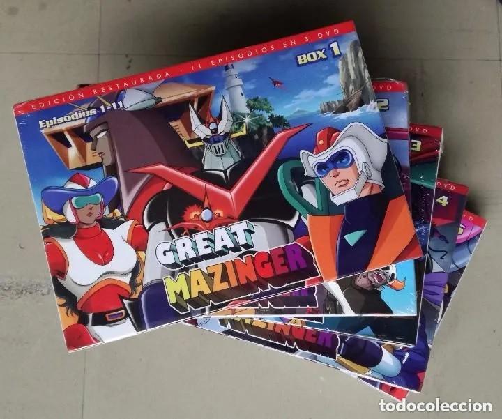 DVD GRAN MAZINGER (GREAT MAZINGER) - SERIE COMPLETA: 56 CAPITULOS EN 5 BOX, 15 DVDS; SELECTA VISION (Series TV en DVD)