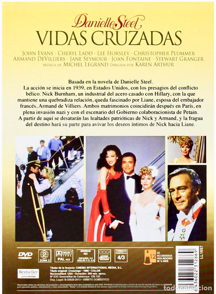 Series de TV: Vidas Cruzadas DVD Danielle Steel - Foto 2 - 183865736
