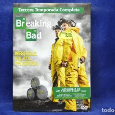 Series de TV: BREAKING BAD -TERCERA TEMPORADA - DVD. Lote 183887880
