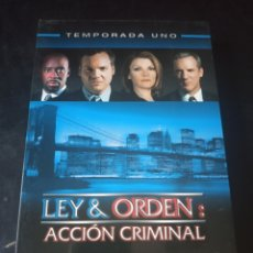 Series de TV: DVD. LEY & ORDEN: ACCIÓN CRIMINAL. PRIMERA TEMPORADA.. Lote 185996785
