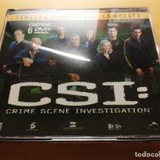 Series de TV: CSI: CRIME SCENE INVESTIGATION (TERCERA TEMPORADA COMPLETA) 6 DVD'S. Lote 186108768