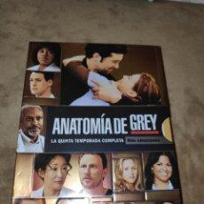 Series de TV: ANATOMÍA DE GREY - LA QUINTA TEMPORADA COMPLETA - DVD. Lote 186180498