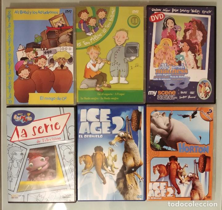 PACK LOTE 6 DVDS DIBUJOS LAS TRES MELLIZAS, ICE AGE 2, MY SCENE, LUNNIS, HORTON (Series TV en DVD)