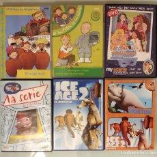 Series de TV: PACK LOTE 6 DVDS DIBUJOS LAS TRES MELLIZAS, ICE AGE 2, MY SCENE, LUNNIS, HORTON. Lote 96719655