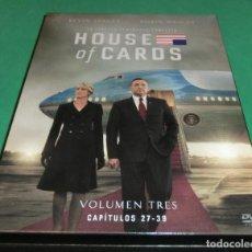 Series de TV: (4) DVD´S HOUSE OF CARDS TEMPORADA 3 COMPLETA (UNA SOLA VISUALIZACIÓN) PERFECTO ESTADO!!. Lote 190920827