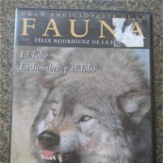 Series de TV: DVD -- FAUNA - FELIX RODRIGUEZ DE LA FUENTE -- EL LOBO / EL LOBO Y EL HOMBRE --. Lote 191102446