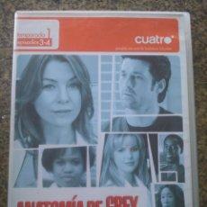 Series de TV: DVD -- ANATOMIA DE GREY -- TEMPORADA 1 EPISODIOS 3-4 -- . Lote 191103458