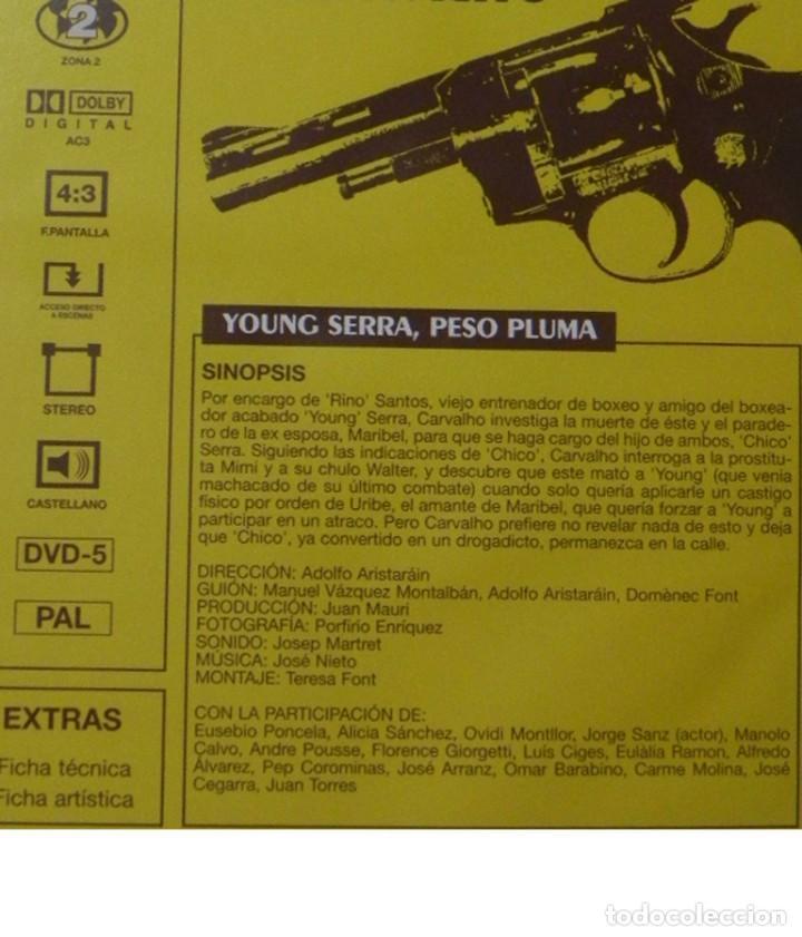 Series de TV: PEPE CARVALHO 1 YOUNG SERRA PESO PLUMA MANUEL VÁZQUEZ MONTALBÁN DVD SUSPENSE SERIE DE TV JORGE SANZ - Foto 2 - 191885398