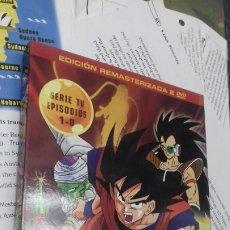 Series de TV: DRAGON BALL Z. EDICION REMASTERIZADA. SIN CENSURA. 2 DVD. SELECTA VISION. 1-8. Lote 191980495