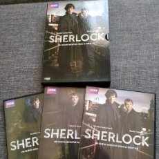 Series de TV: DVD SERIE SHERLOCK - BENEDICT CUMBERBATCH - MARTIN FREEMAN - BBC - SPAIN. Lote 192034807