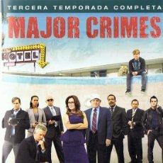 Series de TV: MAJOR CRIMES TERCERA TEMPORADA COMPLETA (4 DVD). Lote 192161143