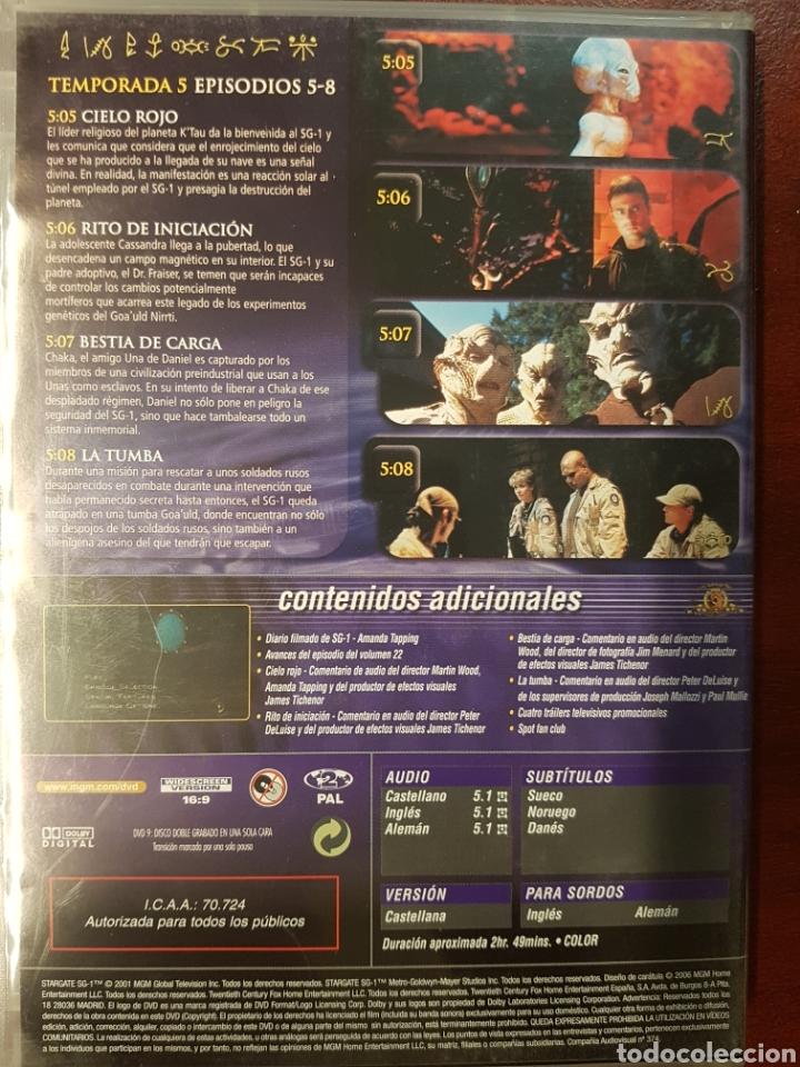 Series de TV: STARGATE SG.1 DVD TEMPORADA 5 DISCO 2 - Foto 2 - 194384465