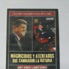 Series de TV: MAGNICIDIOS Y ATENTADOS QUE CAMBIARON LA HISTORIA DVD KENNEDY. Lote 194542450