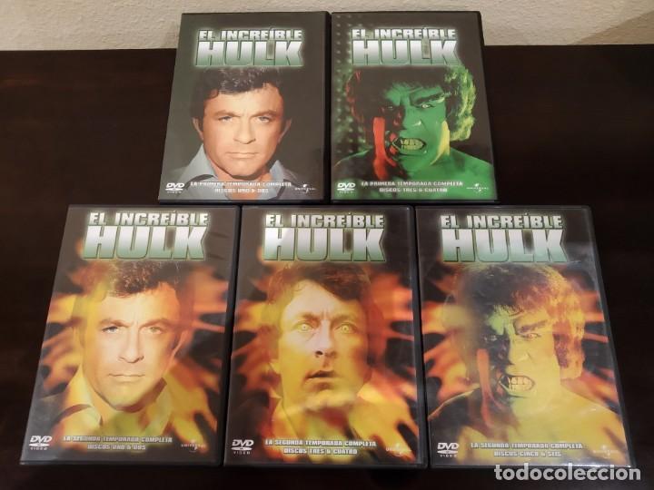 DVD EL INCREÍBLE HULK -SERIE- PRIMERA Y SEGUNDA TEMPORADAS COMPLETAS -LA MASA- (Series TV en DVD)