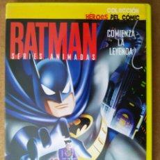 Series de TV: DVD BATMAN SERIES ANIMADAS: COMIENZA LA LEYENDA (COLECCIÓN HÉROES DEL CÓMIC N°1).. Lote 194708233