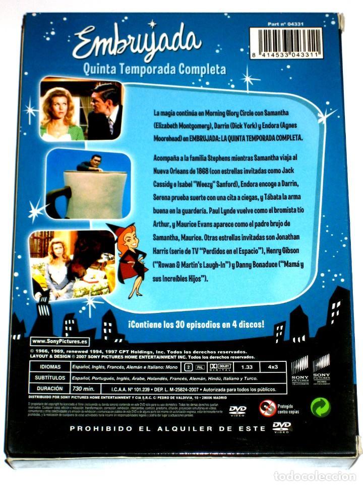 Series de TV: Embrujada (Temporada 5 - 4 Discos) - Elizabeth Montgomery Dick York Agnes Moorehead DVD DESCATALOG. - Foto 2 - 195341296