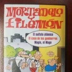 Series de TV: MORTADELO Y FILEMÓN DVD EL SULFATO ATÓMICO, EL CASO DE LOS GAMBERROS.... Lote 195400135