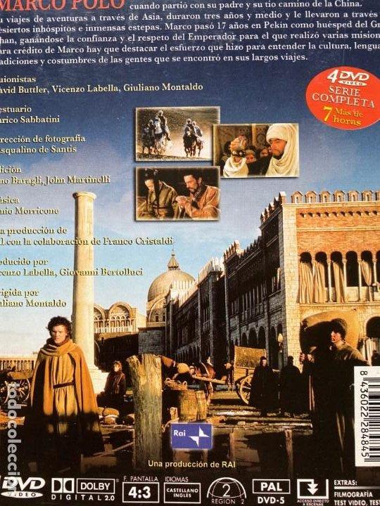 Series de TV: SERIE COMPLETA MARCO POLO EN DVD UNICA Y ESPECIAL LA MEJOR VERSION CON 4 DVDS + DE 7 HORAS - Foto 2 - 198225688