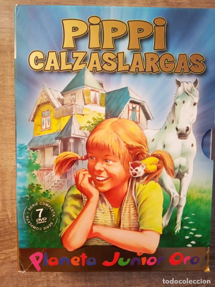 DVD PIPPI CALZASLARGAS 7 DVD'S - SERIE COMPLETA - PLANETA JUNIOR ORO (Series TV en DVD)