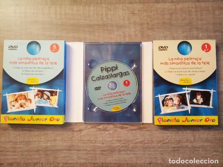 Series de TV: DVD PIPPI CALZASLARGAS 7 DVDS - SERIE COMPLETA - PLANETA JUNIOR ORO - Foto 4 - 198915648
