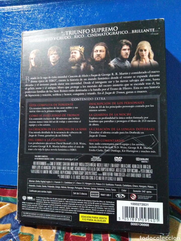 Series de TV: Juego de tronos ( 1 temporada completa ) 5 DVD - Foto 2 - 198923350
